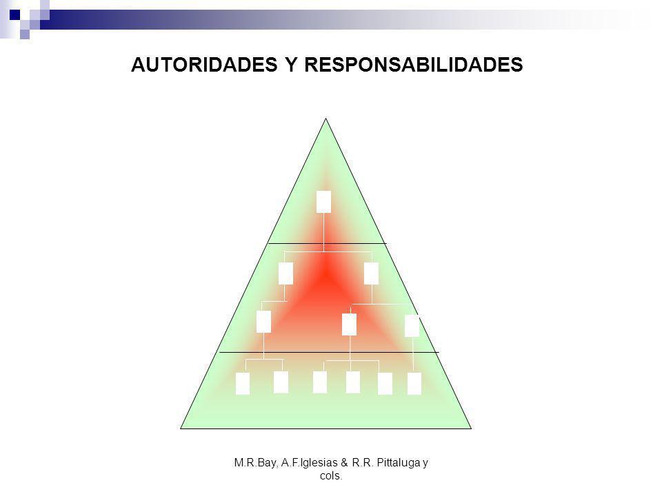 M.R.Bay, A.F.Iglesias & R.R. Pittaluga y cols. AUTORIDADES Y RESPONSABILIDADES