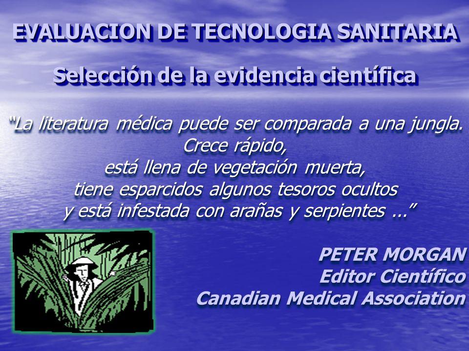 La literatura médica puede ser comparada a una jungla.
