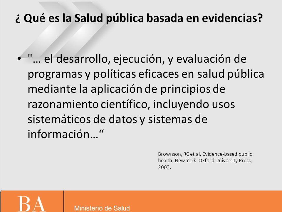 ¿ Qué es la Salud pública basada en evidencias.