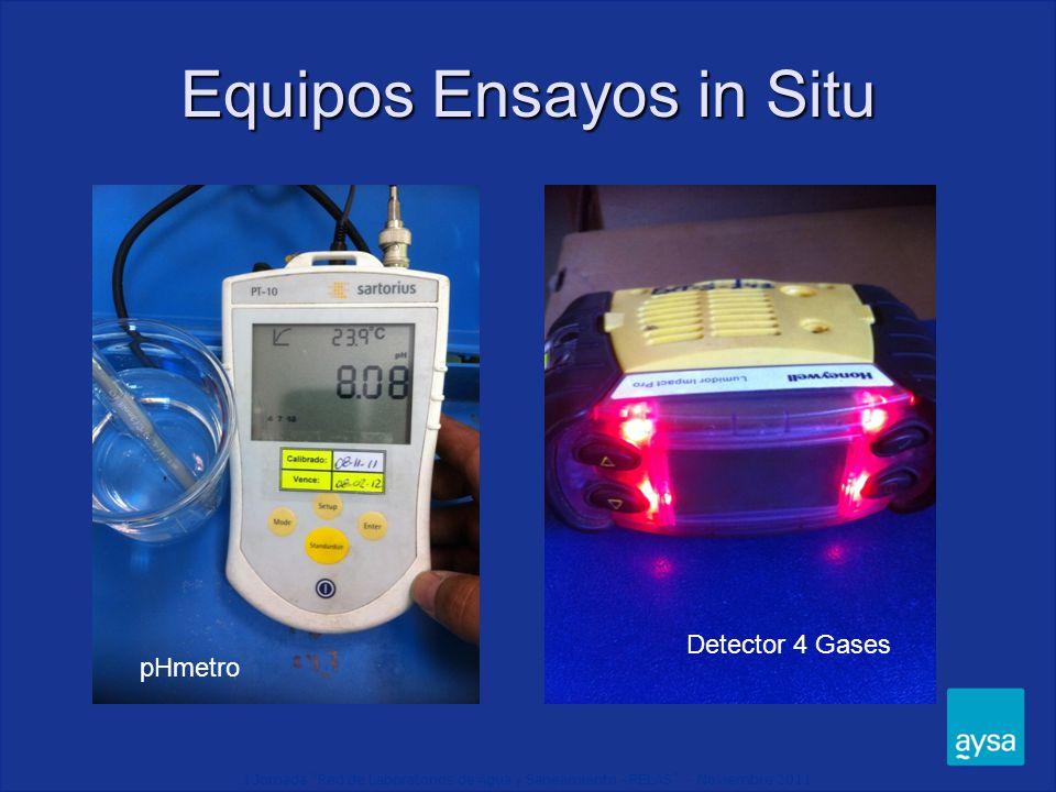 Equipos Ensayos in Situ pHmetro Detector 4 Gases