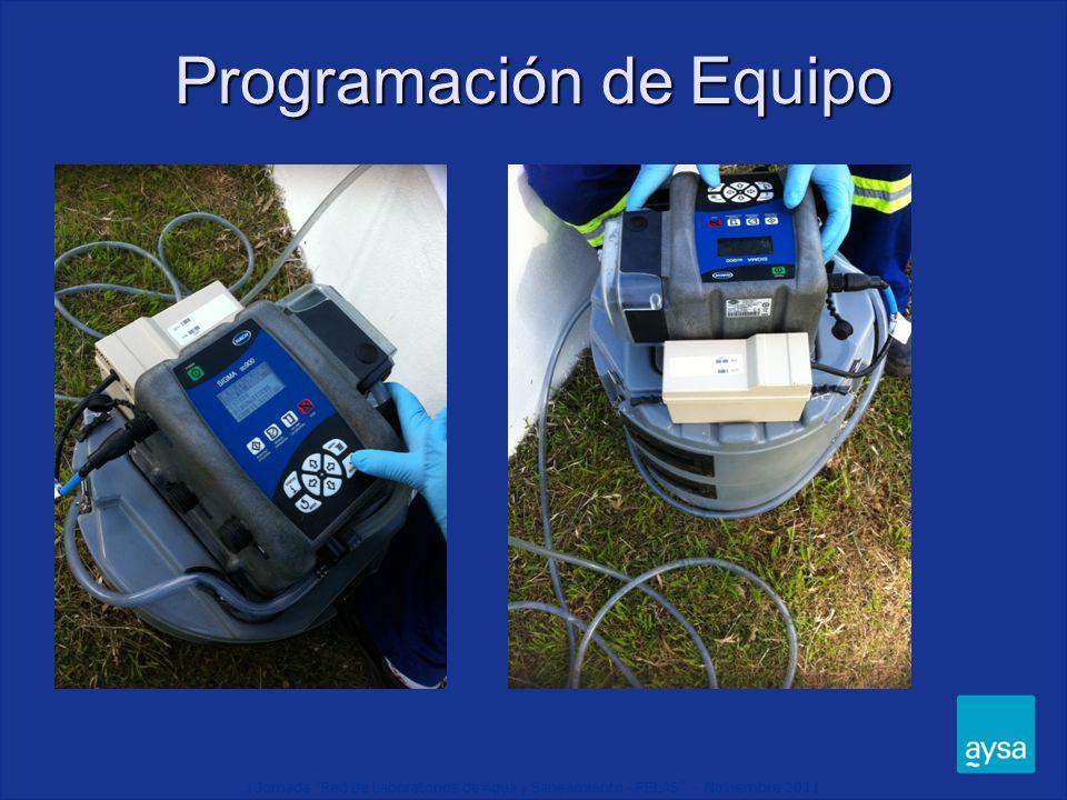I Jornada Red de Laboratorios de Agua y Saneamiento - RELAS - Noviembre 2011 Colocación de Equipo