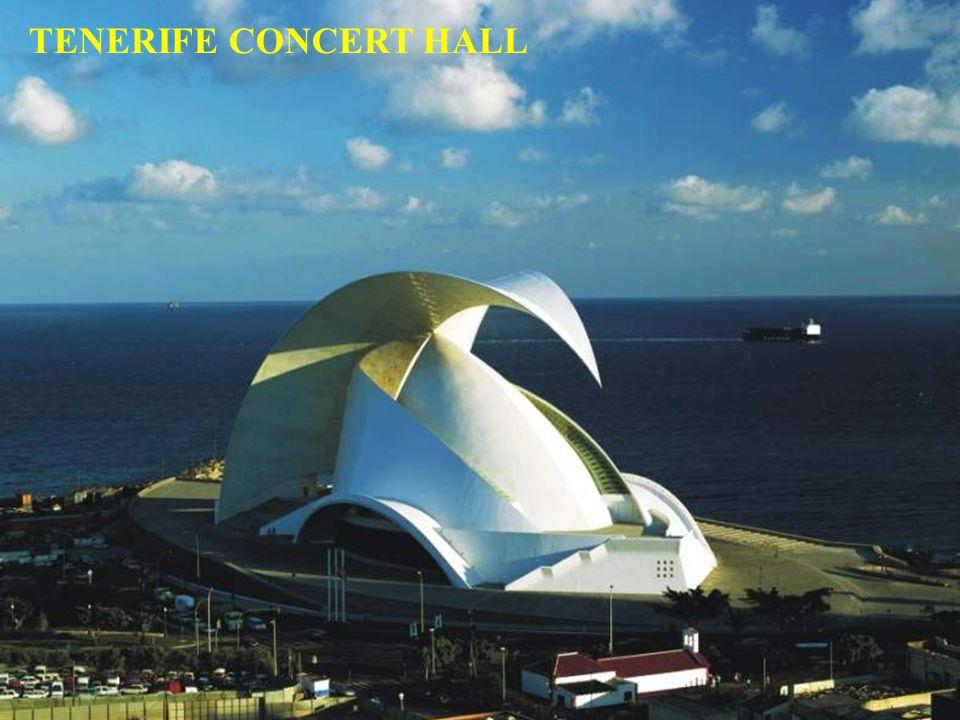 Una maravilla de la tecnología en hormigón y piedra Sede de la orquesta sinfónica de Santa Cruz Tenerife de Tenerife