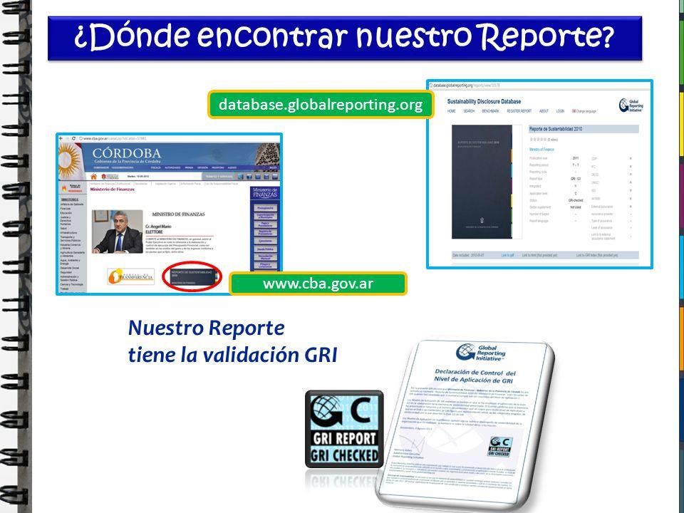 ¿Dónde encontrar nuestro Reporte? www.cba.gov.ar database.globalreporting.org Nuestro Reporte tiene la validación GRI