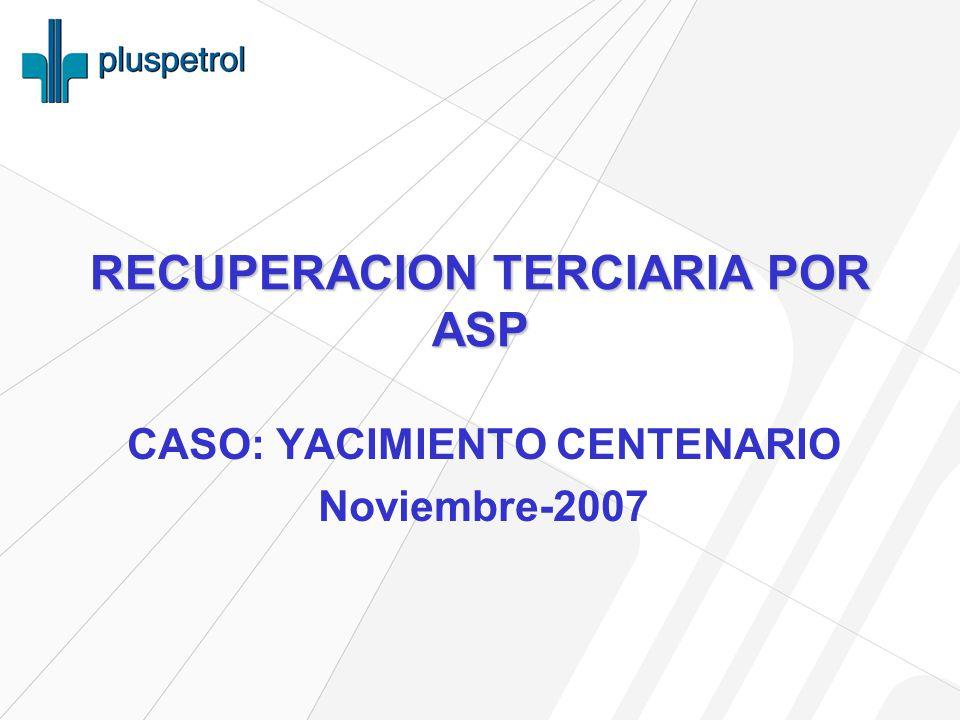 RECUPERACION TERCIARIA POR ASP CASO: YACIMIENTO CENTENARIO Noviembre-2007