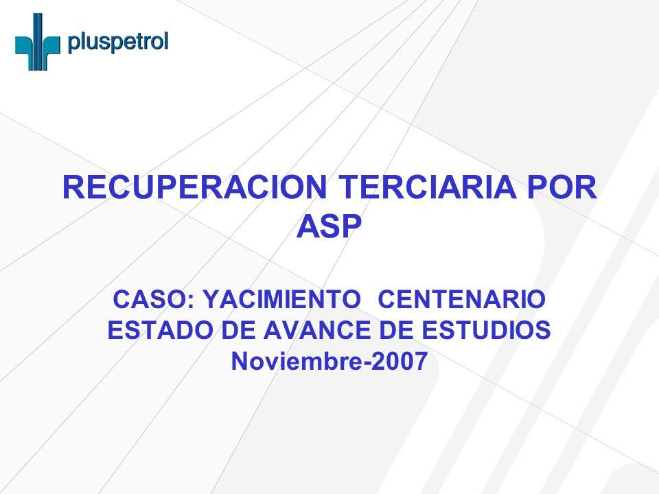 RECUPERACION TERCIARIA POR ASP CASO: YACIMIENTO CENTENARIO ESTADO DE AVANCE DE ESTUDIOS Noviembre-2007