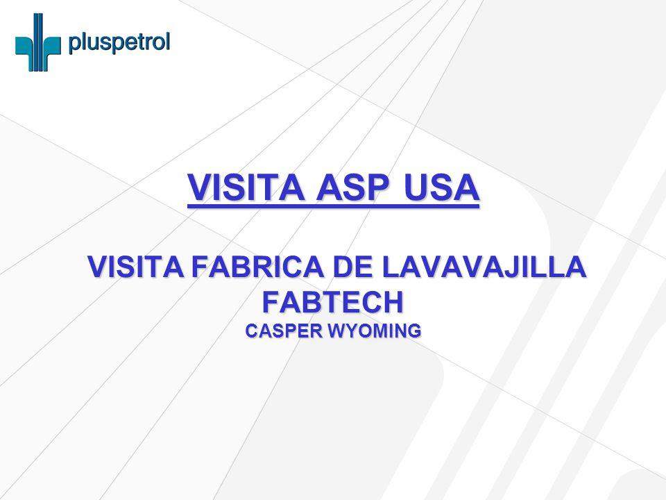 VISITA ASP USA VISITA FABRICA DE LAVAVAJILLA FABTECH CASPER WYOMING