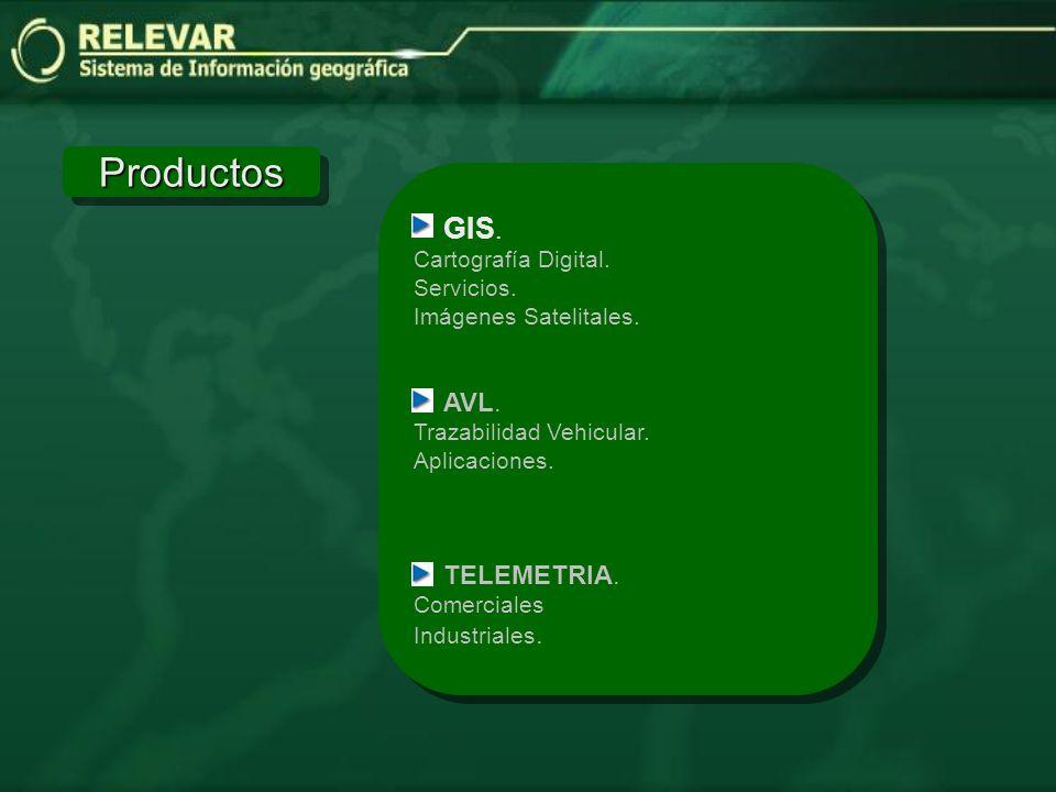 ProductosProductos GIS.Cartografía Digital. Servicios.