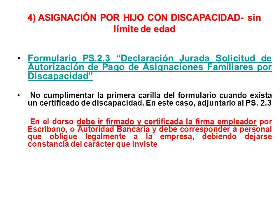 Formulario PS.2.3 Declaración Jurada Solicitud de Autorización de Pago de Asignaciones Familiares por DiscapacidadFormulario PS.2.3 Declaración Jurada