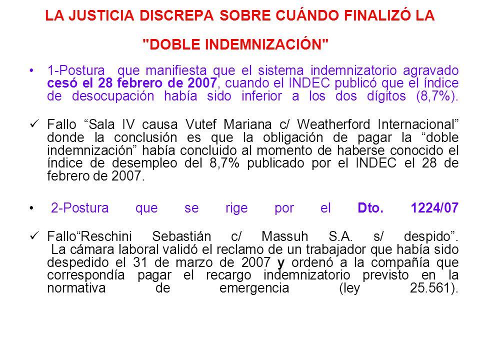 LA JUSTICIA DISCREPA SOBRE CUÁNDO FINALIZÓ LA