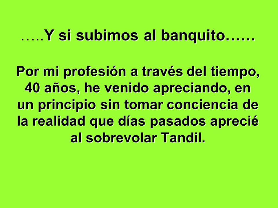 …..Y si subimos al banquito…… Por mi profesión a través del tiempo, 40 años, he venido apreciando, en un principio sin tomar conciencia de la realidad que días pasados aprecié al sobrevolar Tandil.