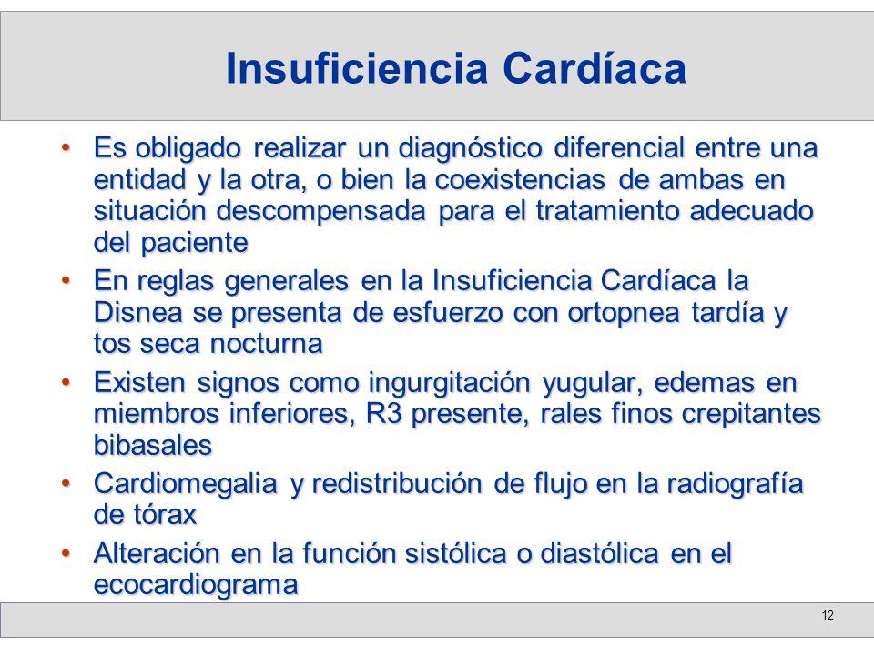 12 Es obligado realizar un diagnóstico diferencial entre una entidad y la otra, o bien la coexistencias de ambas en situación descompensada para el tr