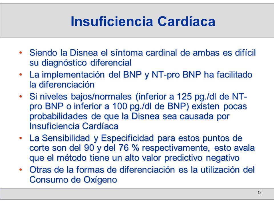 13 Siendo la Disnea el síntoma cardinal de ambas es difícil su diagnóstico diferencialSiendo la Disnea el síntoma cardinal de ambas es difícil su diag