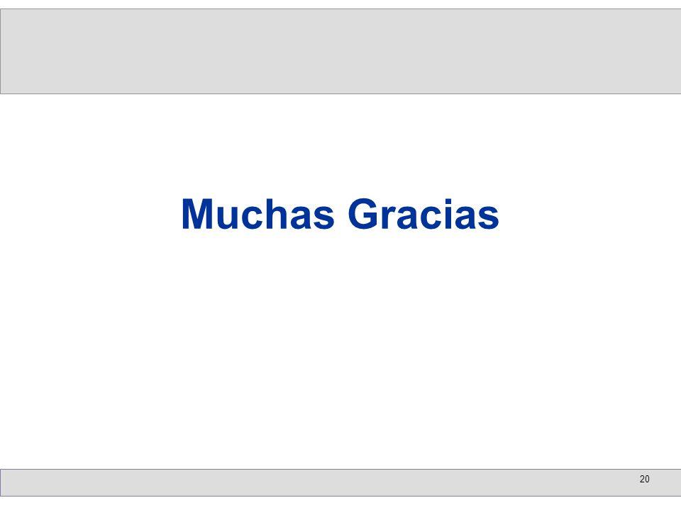 20 Muchas Gracias