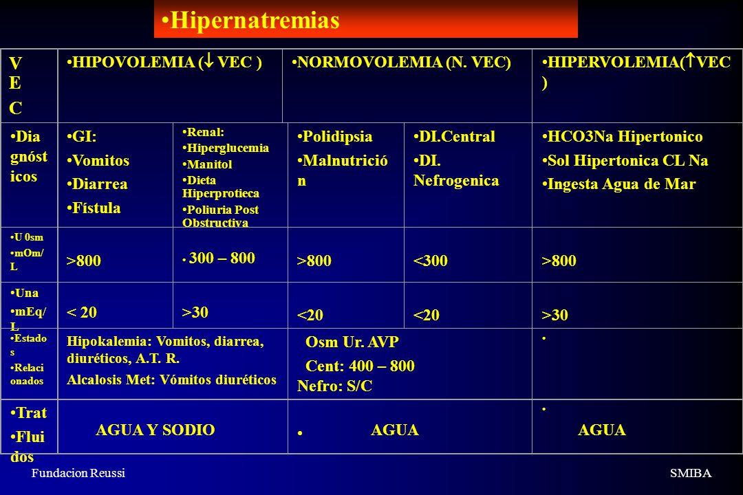 Fundacion ReussiSMIBA VECVEC HIPOVOLEMIA ( VEC ) NORMOVOLEMIA (N.