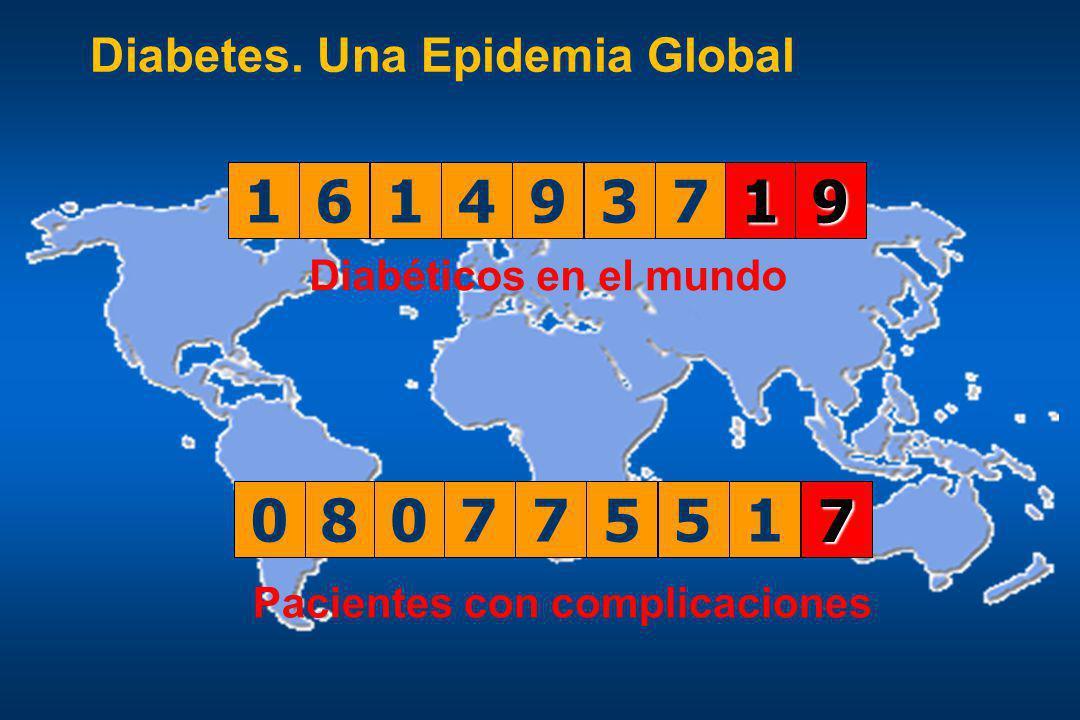 Diabéticos en el mundo Pacientes con complicaciones Diabetes. Una Epidemia Global 08077551 1 161493691614937081614936916149370916149369161493710161493