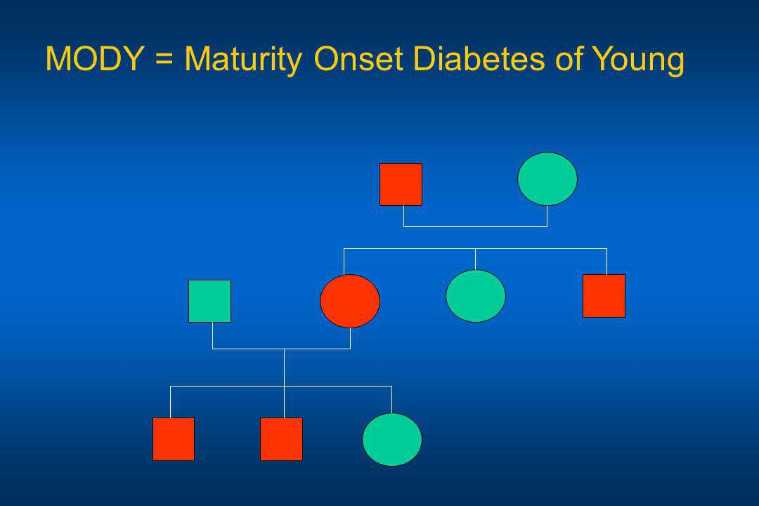 MODY = Maturity Onset Diabetes of Young