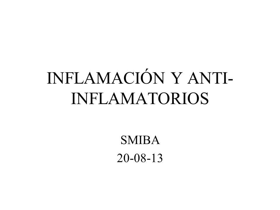 INFLAMACIÓN Y ANTI- INFLAMATORIOS SMIBA 20-08-13