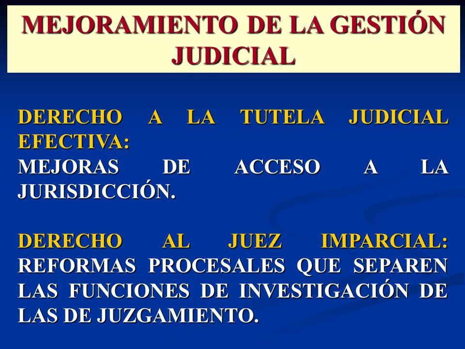 DERECHO A LA TUTELA JUDICIAL EFECTIVA: MEJORAS DE ACCESO A LA JURISDICCIÓN.