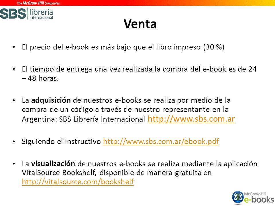 El precio del e-book es más bajo que el libro impreso (30 %) El tiempo de entrega una vez realizada la compra del e-book es de 24 – 48 horas.