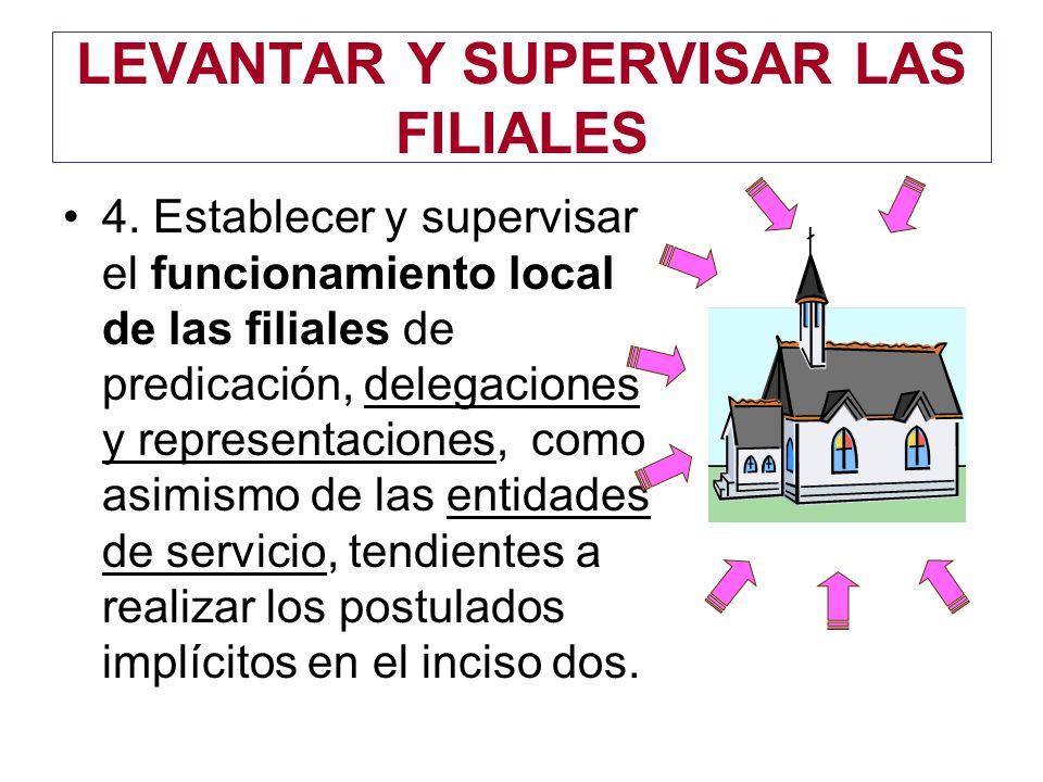 LEVANTAR Y SUPERVISAR LAS FILIALES 4.