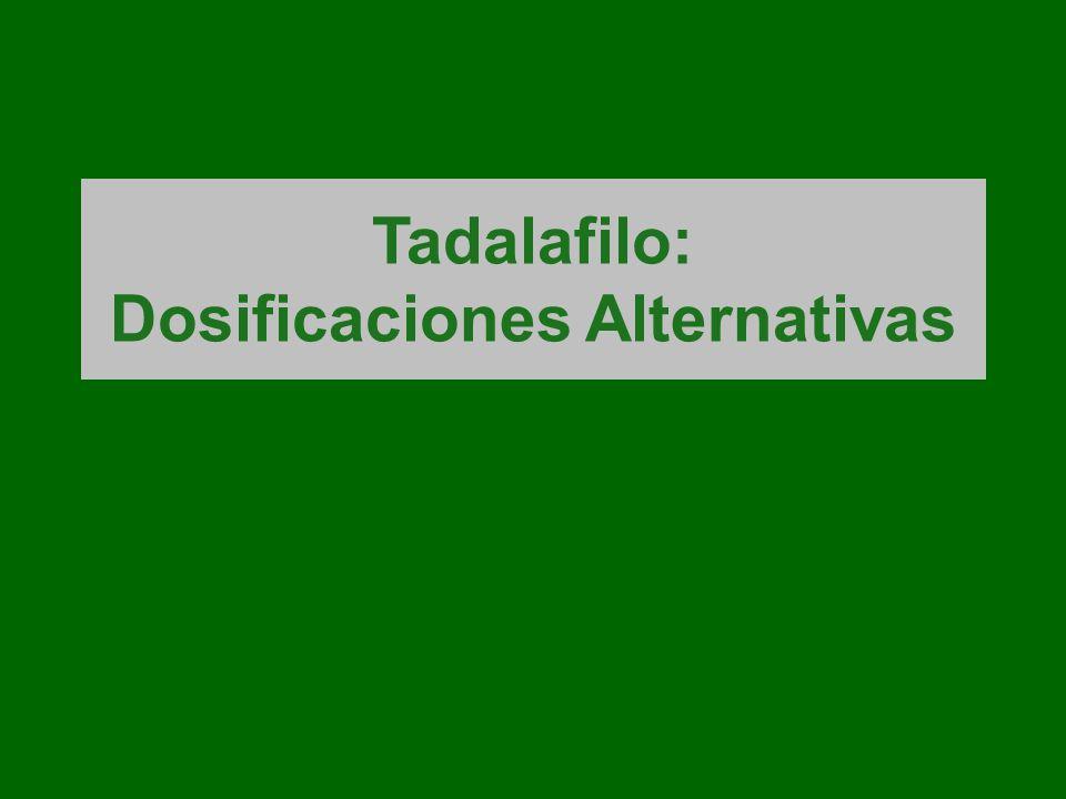 Tadalafilo: Dosificaciones Alternativas