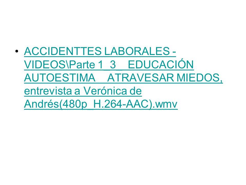ACCIDENTTES LABORALES - VIDEOS\Parte 1_3_ EDUCACIÓN AUTOESTIMA ATRAVESAR MIEDOS, entrevista a Verónica de Andrés(480p_H.264-AAC).wmvACCIDENTTES LABORA