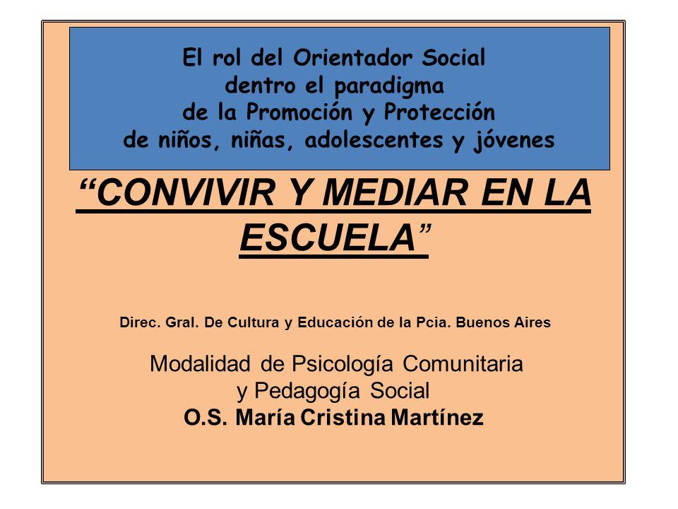 Ççç CONVIVIR Y MEDIAR EN LA ESCUELA Direc.Gral. De Cultura y Educación de la Pcia.