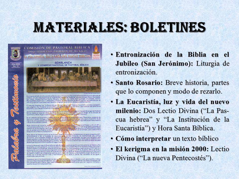 MATERIALES: BOLETINES Entronización de la Biblia en el Jubileo (San Jerónimo): Liturgia de entronización.Entronización de la Biblia en el Jubileo (San