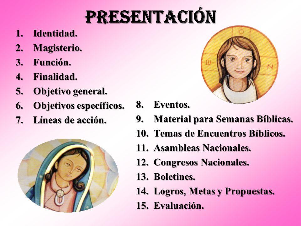 CONCLUSIÓN Como vemos, la Pastoral Bíblica o Dimensión Bíblica de la Pastoral tiene una tarea fundamental dentro de la pastoral de conjunto de la Arquidiócesis.