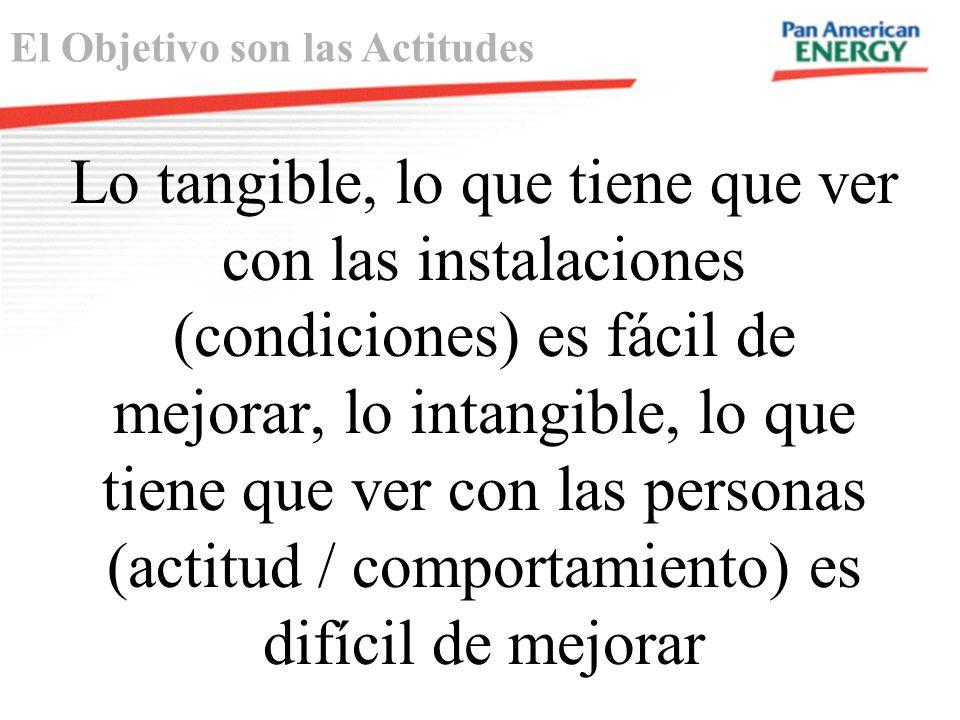 Lo tangible, lo que tiene que ver con las instalaciones (condiciones) es fácil de mejorar, lo intangible, lo que tiene que ver con las personas (actit