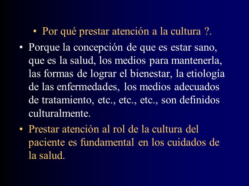Por qué prestar atención a la cultura ?.