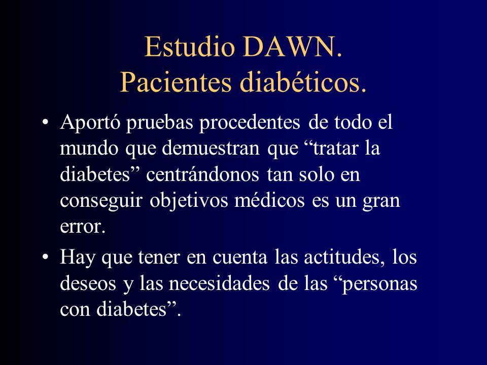 Estudio DAWN.Pacientes diabéticos.