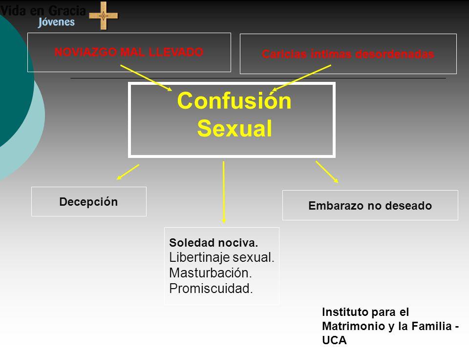 Instituto para el Matrimonio y la Familia - UCA NOVIAZGO MAL LLEVADO Caricias íntimas desordenadas Decepción Embarazo no deseado Soledad nociva.