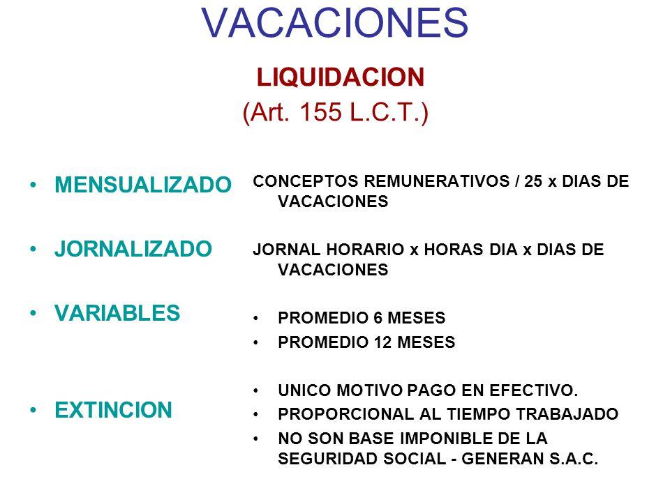 VACACIONES LIQUIDACION (Art.