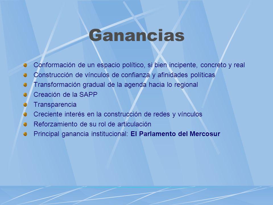El Parlamento del MERCOSUR (PM) un nuevo actor institucional Voluntad de los Jefes de Estado del Mercosur Programa de Trabajo 2004 –2006 Firma del acuerdo Interinstitucional Decisión CMC 49/04