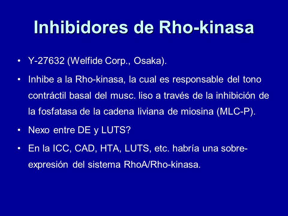 Inhibidores de Rho-kinasa Y-27632 (Welfide Corp., Osaka).
