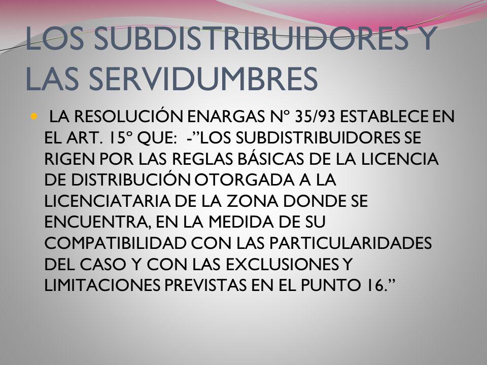 CARACTERIZACION DE LAS SERVIDUMBRES DE LA LEY 24.076 SON DERIVADAS DE LAS SERVIDUMBRES MINERAS A CUYO CÓDIGO REENVIA LA PROPIA LEY. A DIFERENCIA DE LA