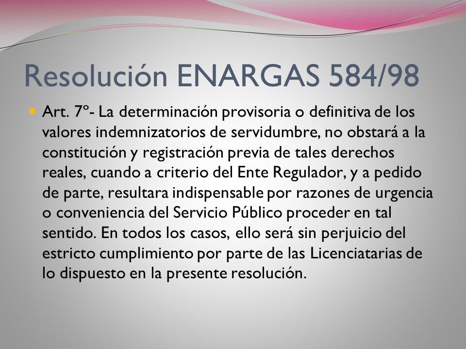 Resolución ENARGAS 584/78 Art. 5º (continuación) …Las acciones correspondientes deberán ser promovidas por las Licenciatarias dentro de los (30) días