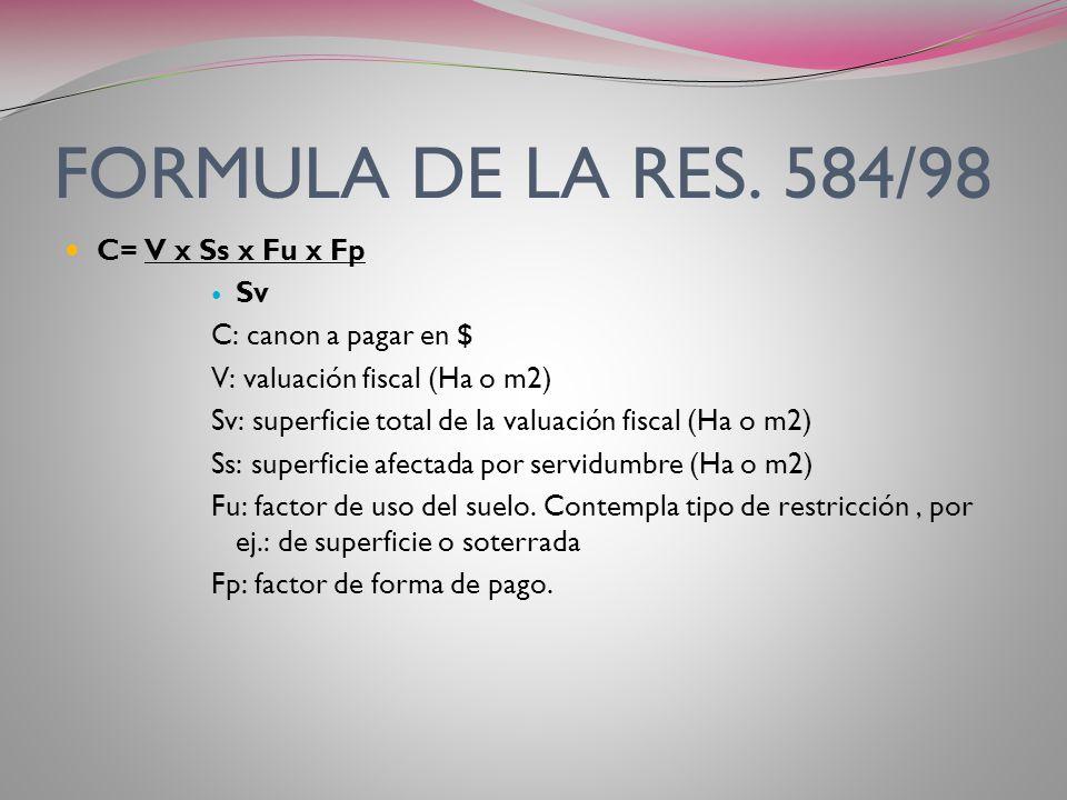 Resolución ENARGAS 584/98 Art. 11º- Los parámetros contenidos en el Anexo I, con los límites establecidos en el art. 9º de la presente resolución, pod