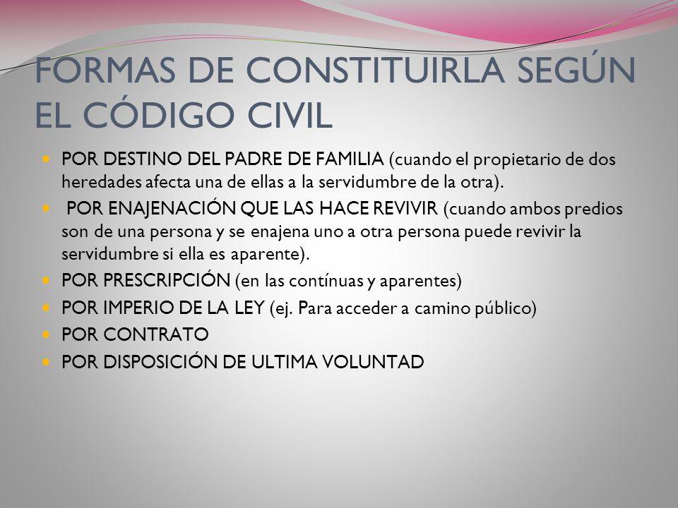 PRINCIPIO DE ATIPICIDAD Art. 3000 del Código Civil establece: Se pueden constituir servidumbres cualquiera sea la restricción a la libertad de otros d