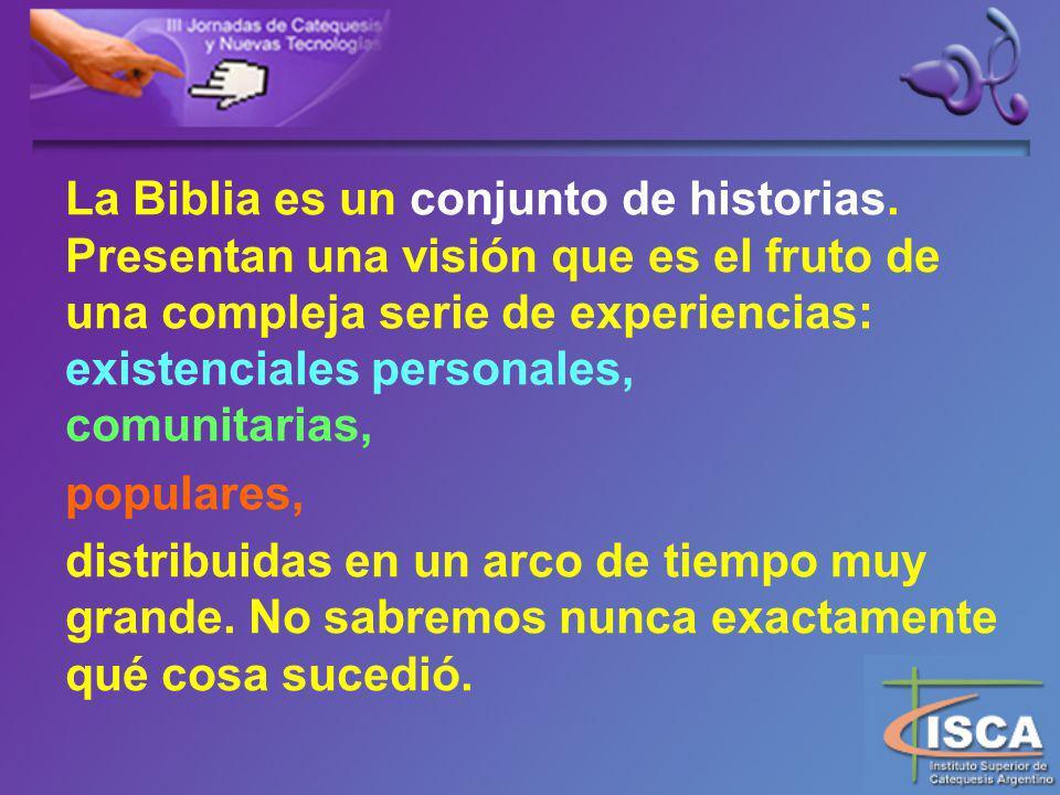 La Biblia es un conjunto de historias.