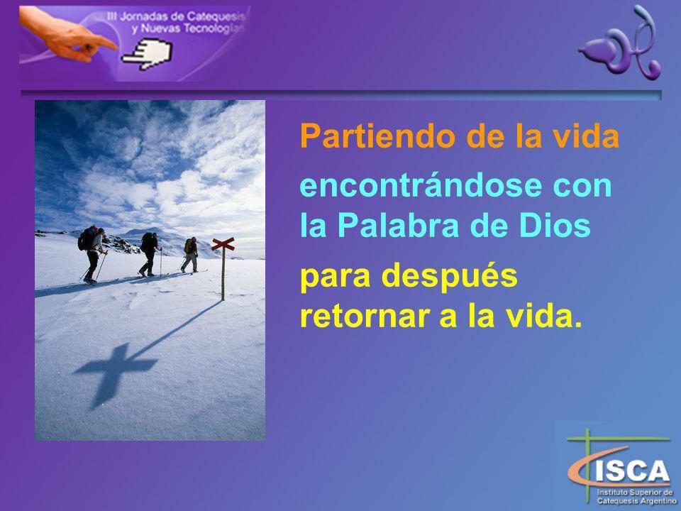 Partiendo de la vida encontrándose con la Palabra de Dios para después retornar a la vida.