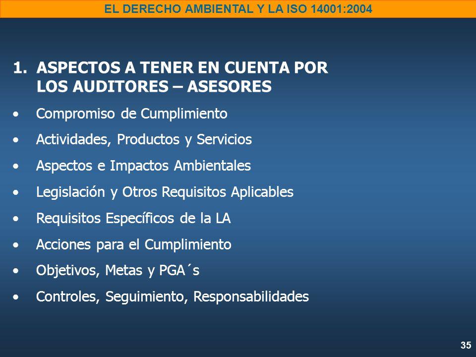 35 EL DERECHO AMBIENTAL Y LA ISO 14001:2004 1.