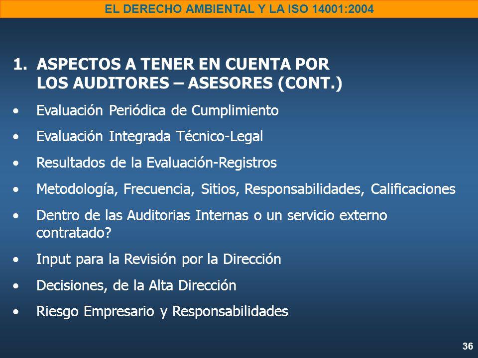 36 EL DERECHO AMBIENTAL Y LA ISO 14001:2004 1.