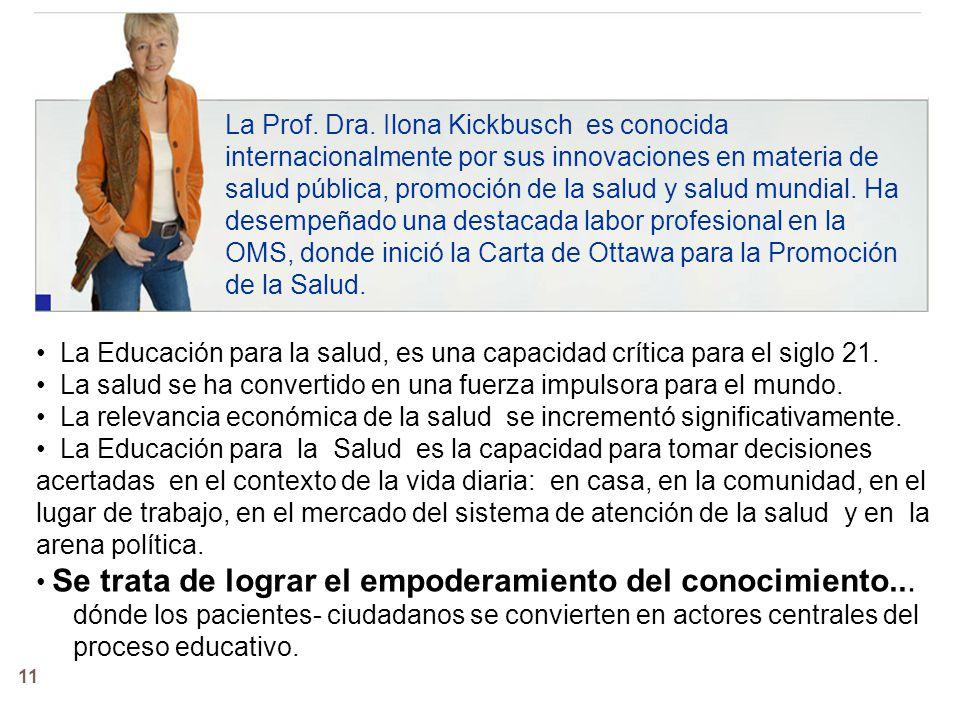 11 La Prof.Dra.
