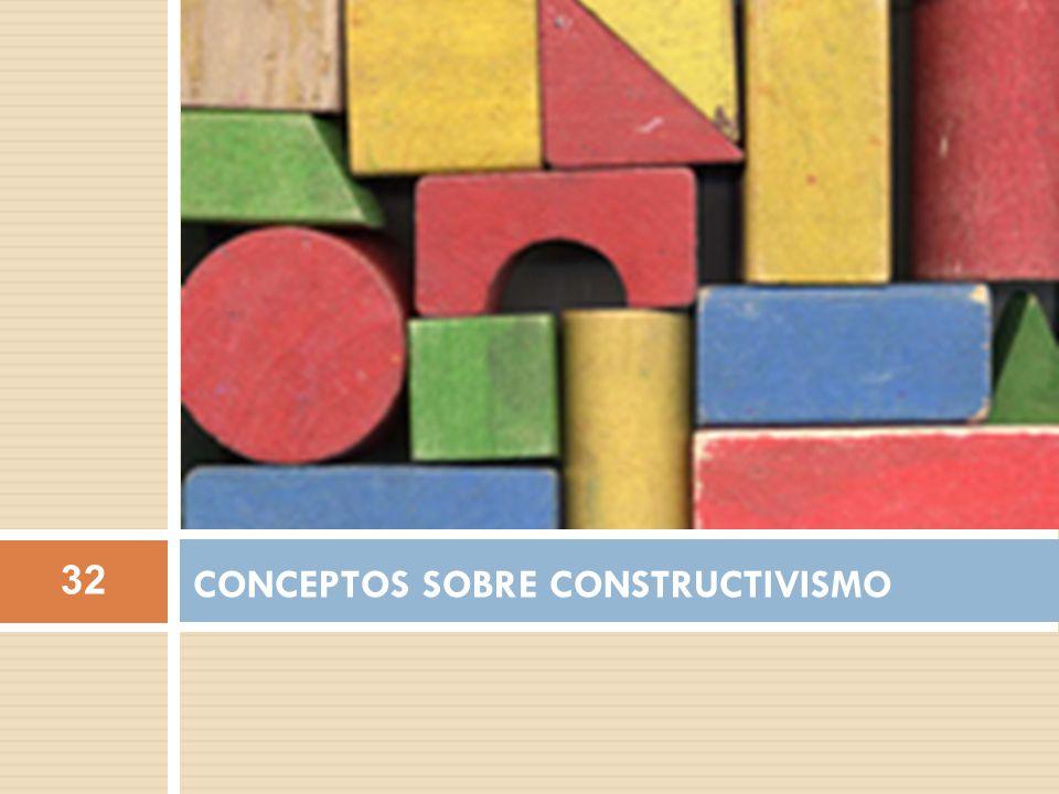 CONCEPTOS SOBRE CONSTRUCTIVISMO 32