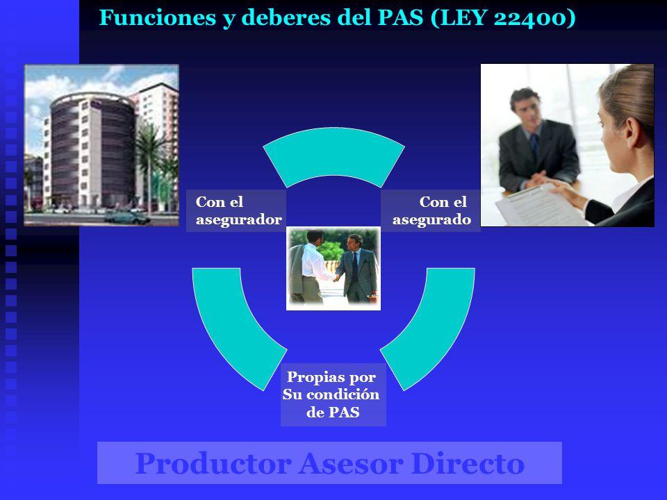 Productor Asesor Directo Funciones y deberes del PAS (LEY 22400)