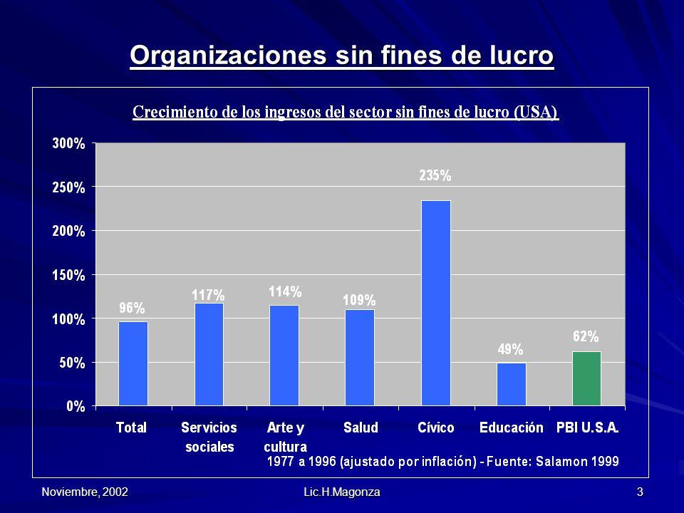 Noviembre, 2002 Lic.H.Magonza 3 Organizaciones sin fines de lucro