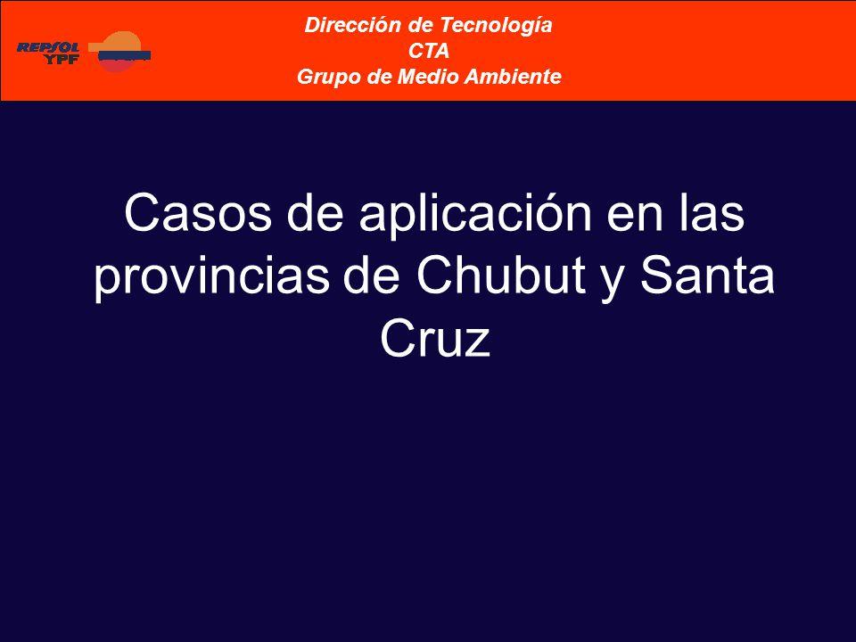 Casos de aplicación en las provincias de Chubut y Santa Cruz Dirección de Tecnología CTA Grupo de Medio Ambiente