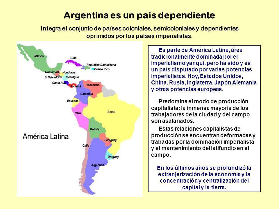Integra el conjunto de países coloniales, semicoloniales y dependientes oprimidos por los países imperialistas. Es parte de América Latina, área tradi